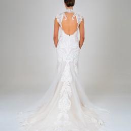 Amelia wedding dress back