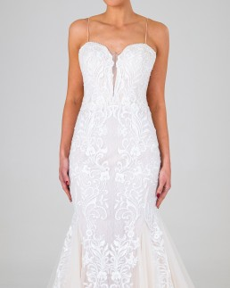 Celine wedding dress front
