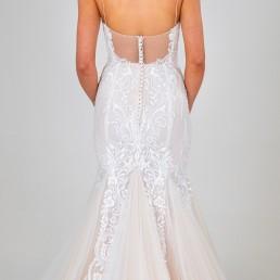 Celine wedding dress back