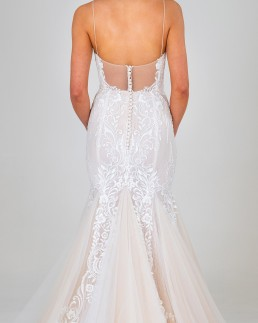Celine wedding dress back