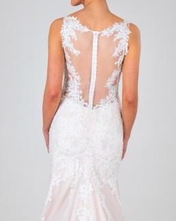 Charlotte wedding dress back