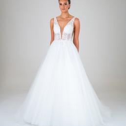 Chloe wedding dress front