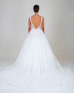 Chloe wedding dress back