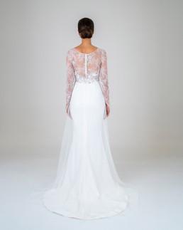 Elle wedding dress back