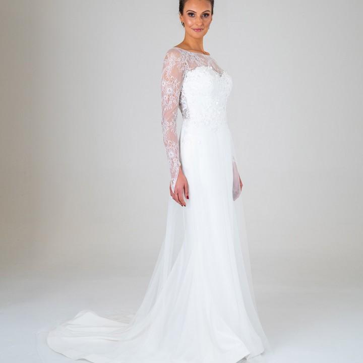 Elle wedding dress front