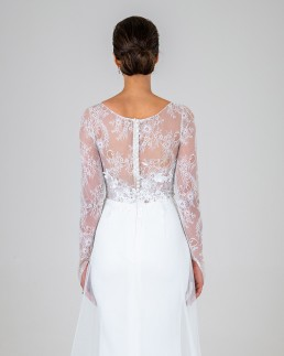 Elle wedding dress back