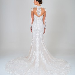 Esmerelda wedding dress back