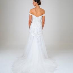 Fern wedding dress back