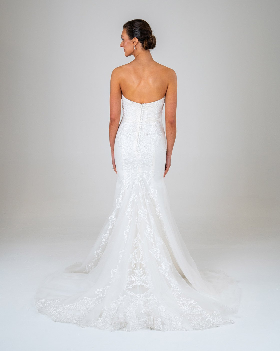 Florence wedding dress back