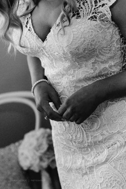 Close Up Wedding Gown