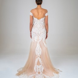 Gene wedding dress back