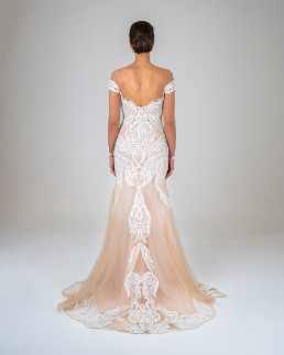 Gene wedding dress back