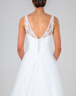 Jane wedding dress back