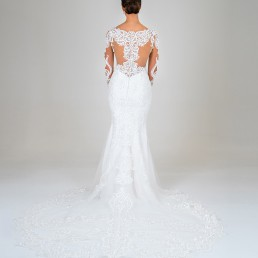 Jasmine wedding dress back