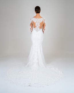 Jasmine wedding dress back