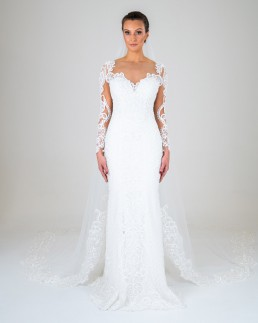 Jasmine wedding dress front