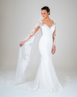 Jasmine wedding dress front