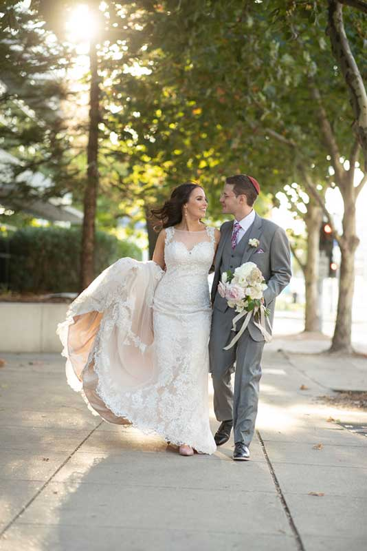 Charlotte Blush Gown couple