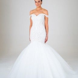 Juliette wedding dress front