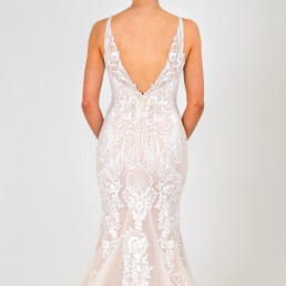 Kimberely wedding dress back