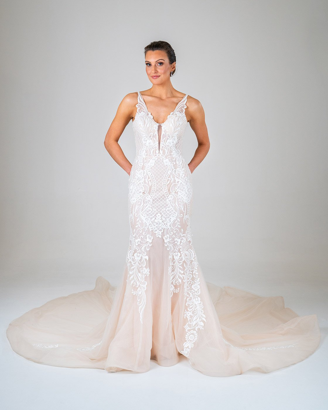 Kimberely wedding dress front
