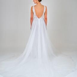 Laura wedding dress back
