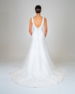 Leila wedding dress back