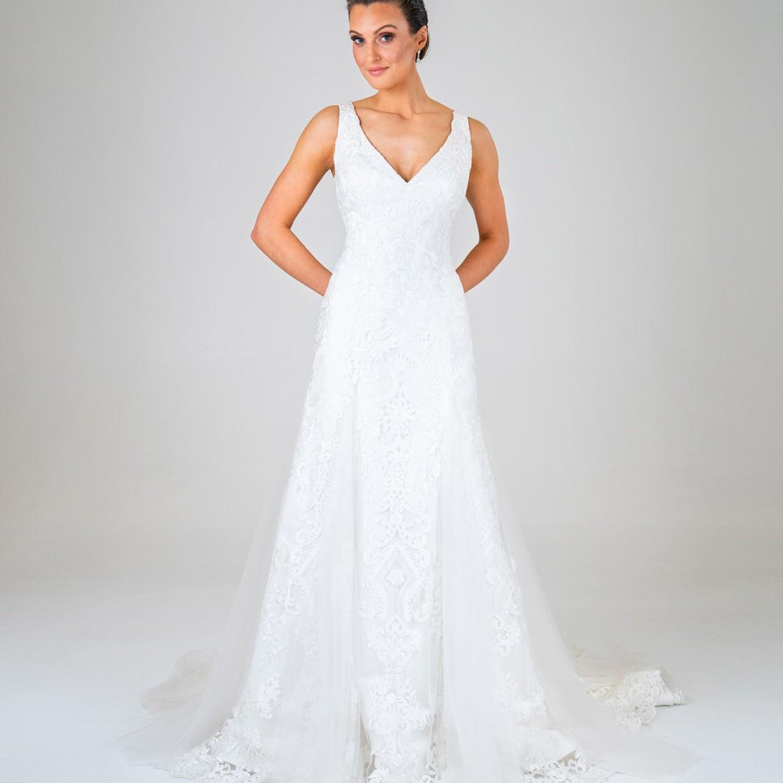 Leila wedding dress front