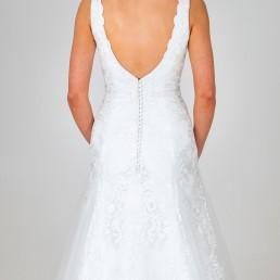 Leila wedding dress back