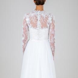 Lola wedding dress back