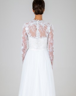 Lola wedding dress back
