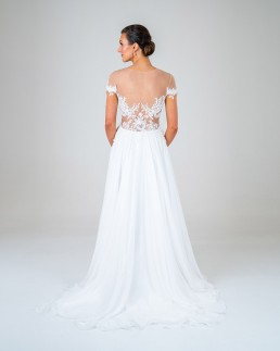 Marissa wedding dress back