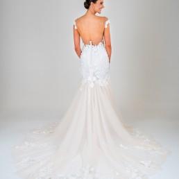 Mia wedding dress back