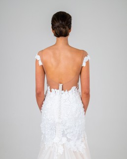 Mia wedding dress back