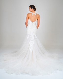 Michaela wedding dress back