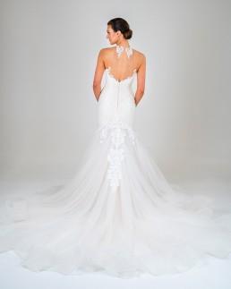 Michaela wedding dress back