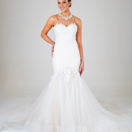 Michaela wedding dress front