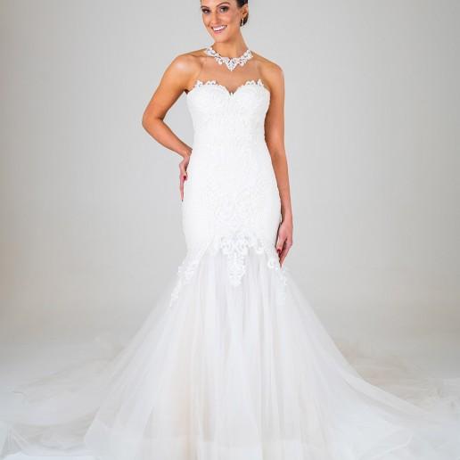 Michaela wedding dress front