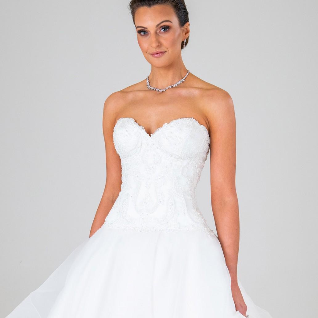 Monique wedding dress front