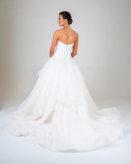 Monique wedding dress back