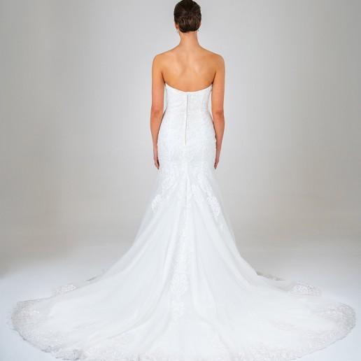 Olivia wedding dress back