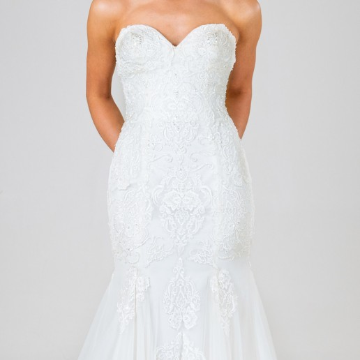 Olivia wedding dress front