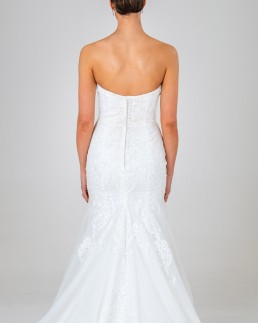 Olivia wedding dress back