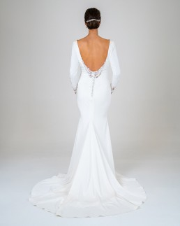 Ophelia wedding dress back