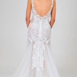 Pepper wedding dress back