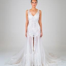 Pepper wedding dress front