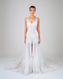 Pepper wedding dress front