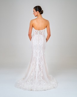 Petra wedding dress back