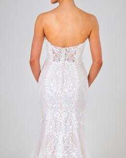 Petra wedding dress back