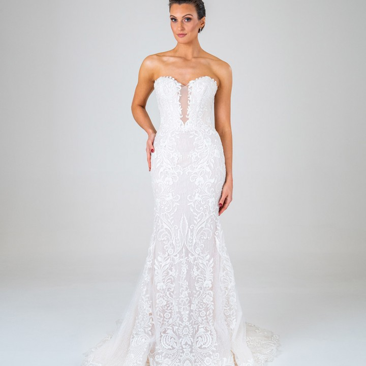Petra wedding dress front